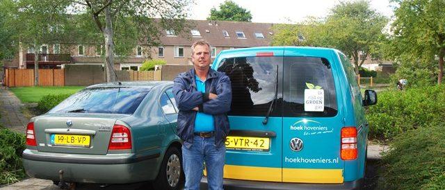 Marcel Hoek auto groen gas